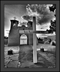 St Frances of Asissi  Ranchos de Taos NM (the Gallopping Geezer '4.4' million + views....) Tags: old newmexico building church canon religious worship faith religion structure historic western mission nm 2008 fortress wildwest geezer corel oldwest ranchosdetaos stfrancesofasissi