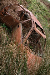 Stolen & abandoned. (Gonzo Walsh1) Tags: uk england abandoned car river out nelson lancashire burnt calder valley gb don moor which joins leads colne burnley ribble widdop thursden