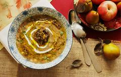 Ash-e haft Dooneh (Turmeric & Saffron) Tags: soup stew foodblog persianfood iranianfood آش mehregan beansoup aash