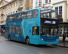 Arriva The Shires 5438 (SN58 EOK) Oxford 14/10/14 (jmupton2000) Tags: uk bus 400 alexander dennis essex sapphire enviro trident arriva shires sn58eok