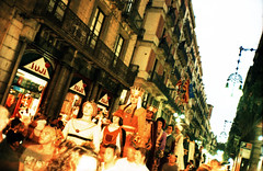 Catalan Giants (pho-Tony) Tags: barcelona auto color colour green film contrast rollei 35mm xpro olympusstylusepic cross infinity grain shift slide tint olympus cast crossprocessing stylus process hue e6 epic f28 stylusepic compact colorcast autofocus  colourcast c41 olympusmjuii mjuii cr200 olympusmjuii digibase rolleidigibasecr200 filmrolleidigibasecr200