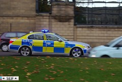 BMW 5SERIES E60 Glasgow 2014 (seifracing) Tags: blue cars lights scotland europe britain accident explorer scottish police security vehicles event bmw british emergency polizei spotting services strathclyde 5series polizia ecosse seifracing sf10dxv