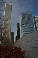 1945 (crowbert) Tags: chicago skyline architecture skyscraper millenniumpark aontower gehrybridge aquatower bcbsbuilding jeannegang rsdayoff