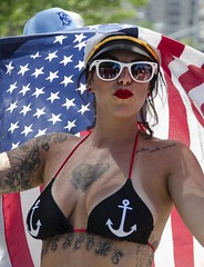 D7K_0771_ep (Eric.Parker) Tags: nyc usa ny newyork coneyisland costume parade bikini anchor mermaid bigapple usflag