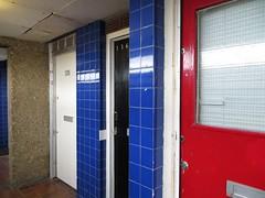 Doors (moley75) Tags: 60s poplar visit flats nationaltrust modernarchitecture sixties brutalism towerblock eastlondon ernogoldfinger balfrontower brownfieldestate