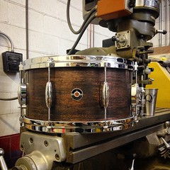 7X14 Copper snare with an antique brown patina. #qdrumco #copper #drum