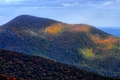 Light transforms grey landscape to vibrant colors.... (biosynthesis24) Tags: mountains fall leaves virginia october wv westvirginia va thesouth deciduous forests skylinedrive appalachianmountains shenandoahnationalpark