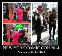 NEW YORK COMIC CON 2014 : Batman Parties Like Its 1966 ! (DarkJediKnight) Tags: penguin batman joker catwoman 2014 newyorkcomiccon