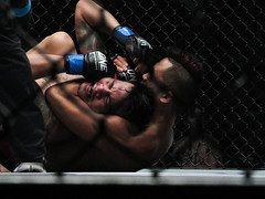Singapore One FC: Battle of Lions (2014) (wongyoonsann) Tags: sports photography singapore stadium indoor martialarts cage choke martinnguyen onefc rockybatolbatol battleoflions