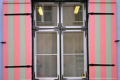 Neon lamps between pink stripes (Dieter Drescher) Tags: pink window reflections tallinn estonia stripes fenster rosa shutter reflexionen streifen estland fensterladen windowshutter neonlamps neonlampen dieterdrescher