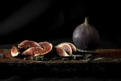 Garnish with a twist 2 (Julia M Cameron) Tags: life still figs gravel garnish
