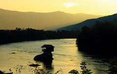 River Drina (Jelena1) Tags: sunset mountains water canon river landscape serbia balkans srbija reka drina riverdrina bajinabasta canonefs1855mmf3556is canon600d bajinabašta westernserbia zapadnasrbija canoneos600d rekadrina kucicanadrini
