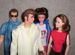 Off to vacation (larry_boy17) Tags: trip pink red vacation sunglasses altered trek reflections frank star glasses james doll dolls handmade getaway ooak uncle sears dean ken barbie skipper husband scene redhead aunt teen purse wife olympics exclusive sinatra repainted