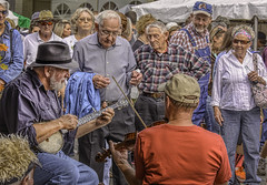 Mountain Music (Wes Iversen) Tags: people music men women bluegrass festivals northcarolina candids vacations mtairy mountainmusic streetmuscians nikkor18300mm