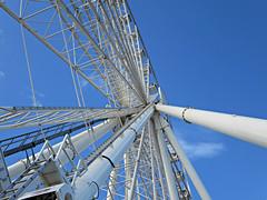 Seattle Great Wheel (kenjet) Tags: seattle sky wheel washington waterfront ride steel ferris wharf round ferriswheel attraction seattlegreatwheel