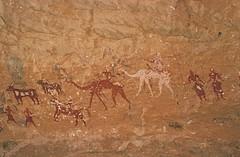 Kozen Dong (ursulazrich) Tags: sahara cattle chad paintings camel warrior rockart petroglyphs spear herder tchad tschad ciad ennedi tibesti gravuren