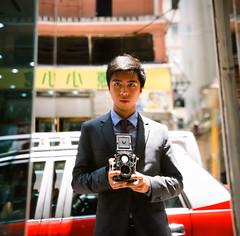 Selfie, Wan Chai, HK (kamshingk) Tags: hk colour 120 6x6 tlr film rollei rolleiflex square photography fuji vivid 66 squareformat fujifilm provia planar twinlensreflex selfie cameraporn 100f middleformat 35f filmisnotdead filmneverdie believeinfilm buyfilmnotmagapixels