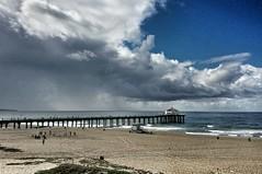 Storm Clouds over Manhattan Beach (Kelson) Tags: ocean california storm beach clouds bay pier south manhattanbeach
