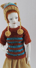 Set :) (tarengil) Tags: blue autumn white hat fashion clothing doll handmade stripes knit luv bjd resin abjd dollmore zaoll
