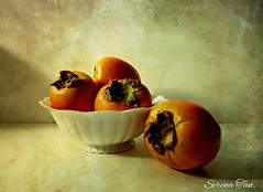 Persimmon Season (Through Serena's Lens) Tags: life me still five give persimmons memoriesbook magicunicornverybest