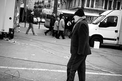 walkin' (Steve Antalics) Tags: street urban bw white black nikon geneva d7000
