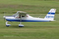 D-MTPC - Tecnam P92 Echo, departing from Runway 26L at Barton (egcc) Tags: manchester echo barton p92 microlight cityairport lsa tecnam flyuk egcb dmtpc