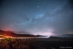 Rainbow Road (JC_Carvalho) Tags: california bridge original light sky art nature beautiful fog night way stars landscape outdoors star coast photo nikon colorful long exposure venus nightscape central trails reservoir hills astrophotography jupiter milky carvalho bestcapturesaoi elitegalleryaoi
