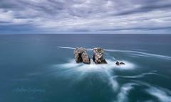 Huro del manzano , Liencres , Spain . (Anton Calpagiu) Tags: liencres atlantic seascape rocks water ocean blue longexposure españa