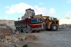 Leyland Scammell Constructor 2 - Clark Michigan 275B (Falippo) Tags: autocarro truck camion lorry lkw wheelloader loadingshovel leyland scammell constructor2 clarkmichigan clark275b quarry maltaquarry maltesequarry cava steinbruch palagommata radlader chargeus