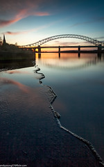 Ferry Hut (4 of 6) (andyyoung37) Tags: railwaybridge runcorn runcornbridge uk bluehour cheshire refelections rivermersey sunset england unitedkingdom gb