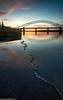 Ferry Hut (4 of 6) (andyyoung37) Tags: railwaybridge runcorn runcornbridge uk bluehour cheshire refelections rivermersey sunset england unitedkingdom gb