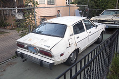 Amazing derelict cars (vetaturfumare - thanks for 2 MILLION views!!!) Tags: ford ltd 1969 datsun 210 210b sunny rust dust cracked echopark decay la losangeles malaise fence driveway