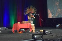 DSC_0436 (jjldickinson) Tags: nikond3300 105d3300 nikon1855mmf3556gvriiafsdxnikkor promaster52mmdigitalhdprotectionfilter longbeach worldwoodday longbeachconventioncenter dtlb musician aztec flute drum wood