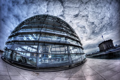 [the_dome] (bandel_photography) Tags: dome kuppel berlin city capital hauptstadt kanzleramt bundestag travell reise berlincity fisheye wolken clouds hdr dynamik sky himmel reichstag photography fotografie