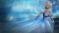 Have Courage and be Kind.. * Cinderella* contest entry (_Adra_ * Be Back Soon *) Tags: fairytale cinderella photoshop magic magical enchanting blond blue slipper lostunicorn