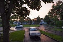 2013-08_DSC_5313_20161019 (Réal Filion) Tags: paysage urbain pluie ville québec canada rue auto maison arbre crépuscule pelouse mouillé détrempé street car twilight dusk house tree lawngrass wet