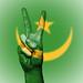 Peace Symbol with National Flag of Mauritania