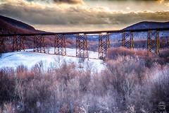 The Moodna Viaduct (brianloganphoto) Tags: trees trestle iron mountian bridge orangecounty cloudy train landcape newyork field rural conditions salisburymills snow beaverdamlakesalisburymills unitedstates us