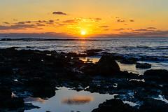 Sun setting at Akrotiri (George Plakides) Tags: akrotiri cloud reflection pool