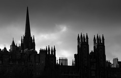 Edinburgh outline (Tony Worrall) Tags: scotland scottish north country place visit area county attraction open stream tour scots uk tourist edinburgh city capital centre street urban spire tower rooftops outline sunset sky