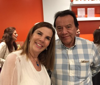 Rememberting Sofia Imber at imago, art in action, her daughter Adriana Meneses and gallerist Oscar Ascanio