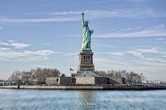 Statue of Liberty (Kofla Olivieri) Tags: statueofliberty newyorkcitylandmark nikond7000 unitedstates ladyliberty hudsonriver landscape architecture america ellisisland newyorkcity topazadjust skyline koflaolivieri adobephotoshopelements lightroom hdr statue national park