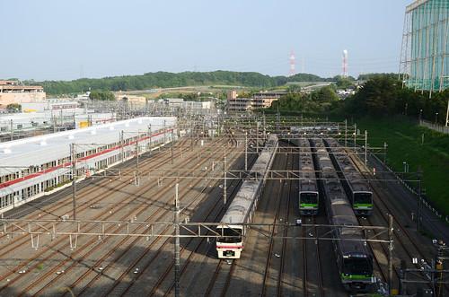 Train Depot/Factory of Keio Corporation in Wakabadai 3