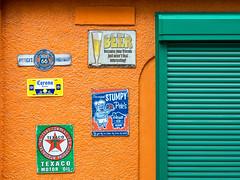 Orange and Green (takanorimutoh) Tags: colorsinourworld wall