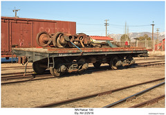 NN Flatcar 100 (Robert W. Thomson) Tags: nn nevadanorthern flatcar traincar railcar rollingstock mw mow maintenanceofway train trains railroad railway ely nevada
