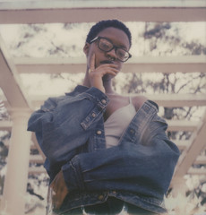 Lauryn Hill in the 90's Vibe (Scott Southall) Tags: polaroidweek polaroidweek2017 roidweek portrait polaroid instantfilm film filmisnotdead believeinfilm 32017 starr model outdoors naturallight impossibleproject 600film slr680 art analog snapitseeit glasses