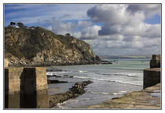 The Sea Wall (Audrey A Jackson) Tags: canon60d corwall charlestown sea harbour walls sky clouds nature colour seascape landscape