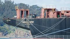 Horizon Spirit container ship home port Philadelphia starboard stern overhang DSC_0086 (wbaiv) Tags: transportation san francisco bay area embarcadero pier 30 28 container ship horizonspirit pasha hawaii philadelphia pa imo 7729459 pennsylvania usregistered closeup
