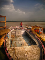Boy and his Boat (Sunset Dogs) Tags: india