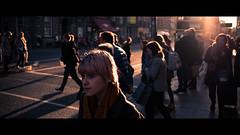 Dame street - Dublin, Ireland - Color street photography (Giuseppe Milo (www.pixael.com)) Tags: streetphotography urban candid ireland street people dublin sunset cinematic city orange light countydublin ie onsale